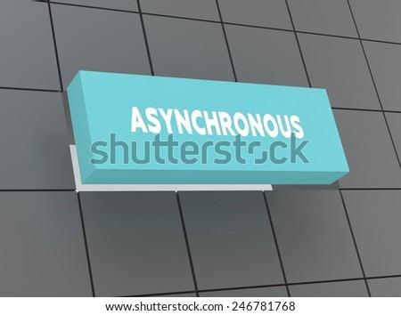 Concept ASYNCHRONOUS - stock photo