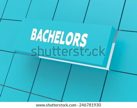 Concept BACHELORS - stock photo