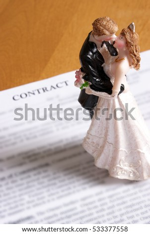 Concept based on the legalities of marriage.