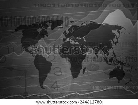 Concept Business on the Map - stock photo