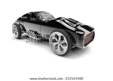 Concept car on white background