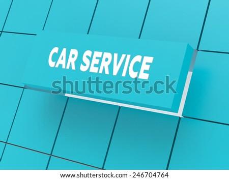 Concept CAR SERVICE - stock photo