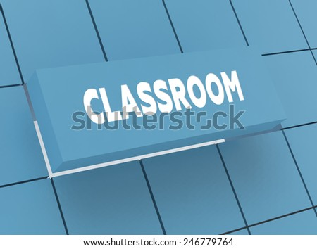 Concept CLASSROOM - stock photo