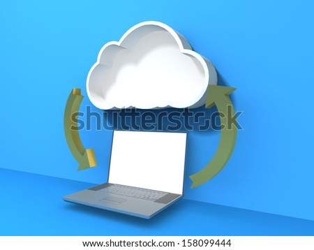 Concept cloud  - stock photo