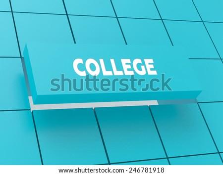 Concept COLLEGE - stock photo