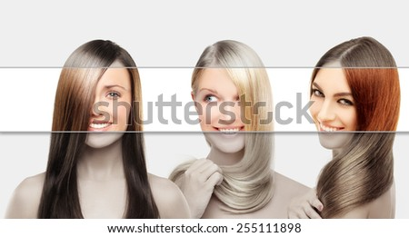 Concept Coloring Hair - stock photo