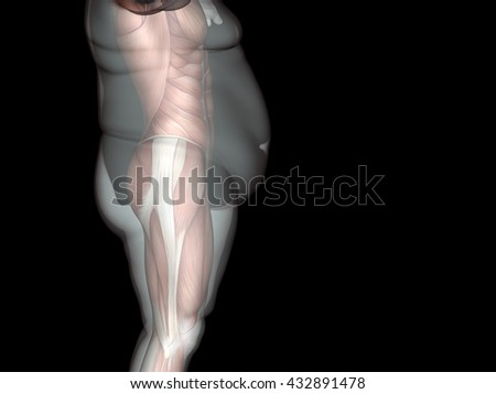 Concept, conceptual 3D illustration fat overweight vs slim fit diet with muscles young man black background, metaphor weight loss, body, fitness, fatness, obesity, health, healthy, male, dieting shape - stock photo