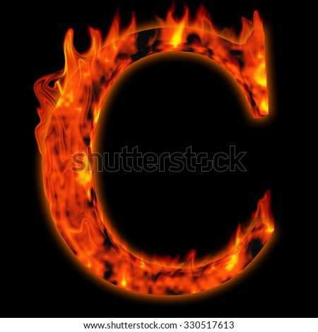 Concept conceptual red hot burning fire font  in red and orange flames isolated on black background metaphor to holiday, vintage, industrial, grunge, glow, flammable, romantic, fear,  nightmare design