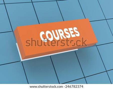 Concept COURSES - stock photo