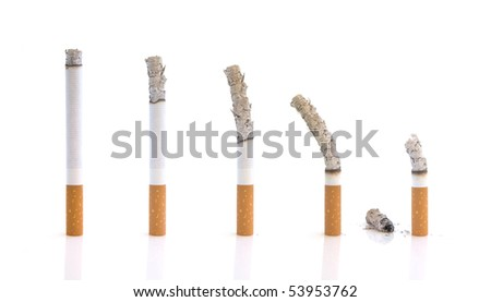 concept-dangers of cigarettes - stock photo