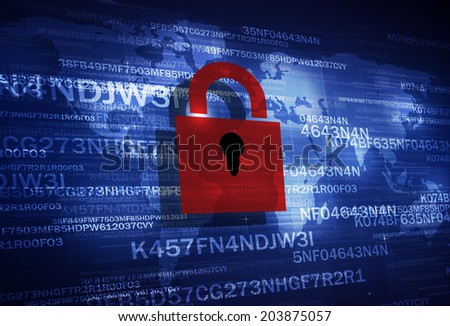 concept digital coding business internet technology security blue background