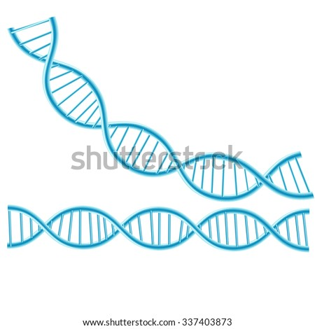 Concept Dna isolated background