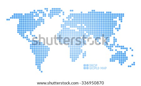 Concept dots world map america europe stock illustration 336950870 concept dots world map america europe asia australia africa gumiabroncs Images
