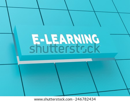 Concept E-LEARNING - stock photo