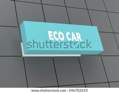 Concept ECO CAR - stock photo