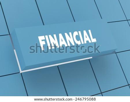 Concept FINANCIAL - stock photo