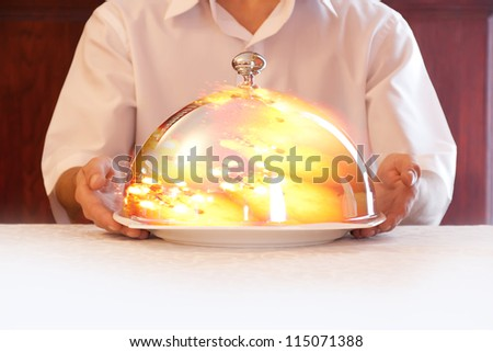 Concept: food, restaurant, delicious. - stock photo