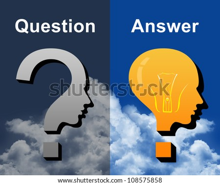 Concept For Confusion With Question and Answer Theme - stock photo