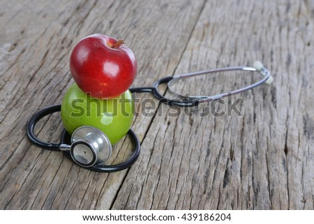 Concept for diet, healthcare, nutrition or medical insurance. - stock photo