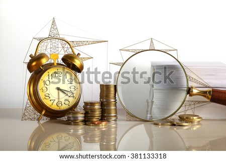 concept for energy saving in business - stock photo