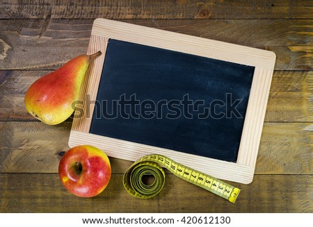 Concept for loosing weight and exercise - stock photo