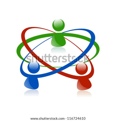 Concept for social media, social network, teamwork, business meeting, business team, people communicating, friends, family, community, unity and scientists. - stock photo