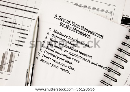 Concept for time management - stock photo