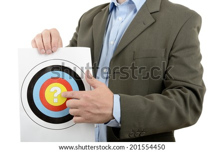 Concept for what is our target - stock photo