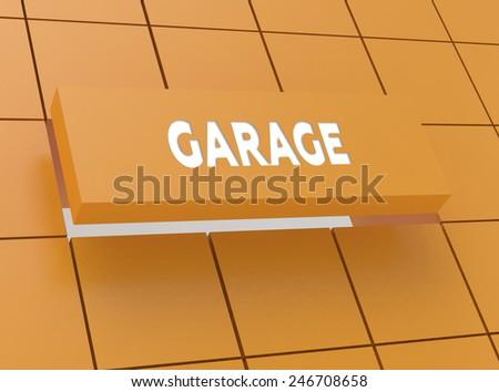 Concept GARAGE - stock photo