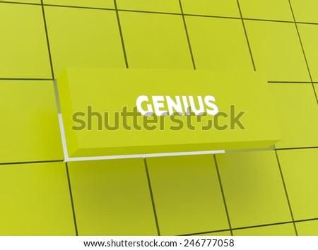 Concept GENIUS - stock photo