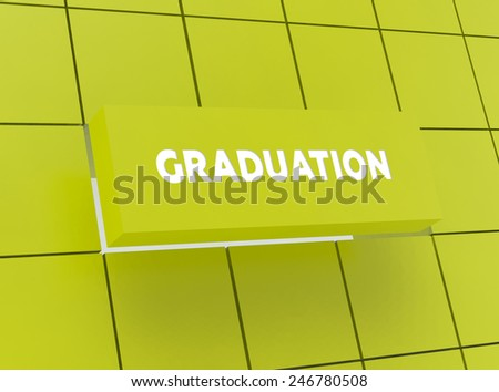 Concept GRADUATION - stock photo