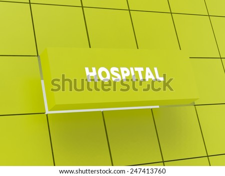 Concept HOSPITAL - stock photo