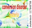 concept hysteria background ( conversion disorder ) - stock photo