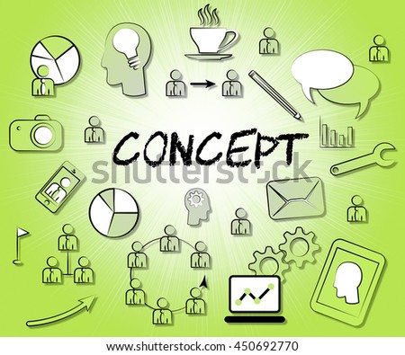 Concept Icons Meaning Theory Idea And Concepts - stock photo