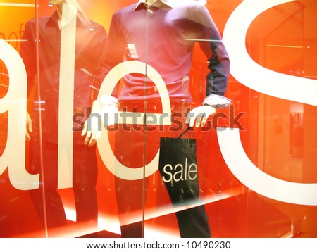 concept illustration of a fashion sale - stock photo