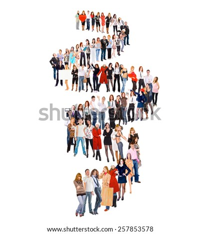Concept Image Big Group  - stock photo