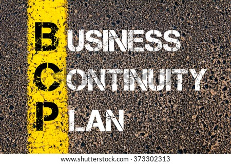 Great Concept Image Of Business Acronym BCP Business Continuity Plan Written Over  Road Marking Yellow Paint Line