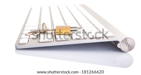 Concept image of data input security - stock photo