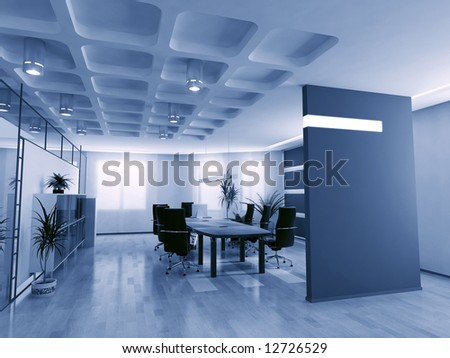 concept image of empty boardroom meeting area (3D)