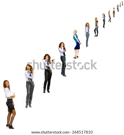 Concept Image People in Queue  - stock photo
