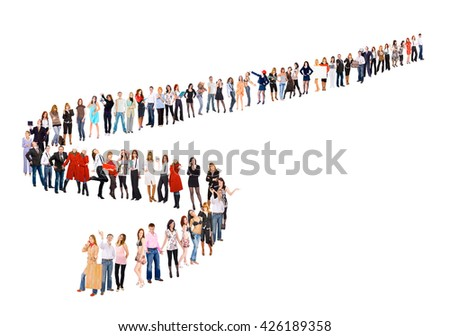Concept Image People in Queue