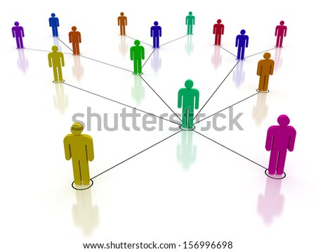 Concept image representing network, networking, connection, social network, communications - stock photo