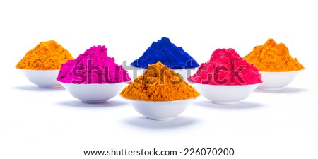 Concept Indian color festival called Holi - stock photo