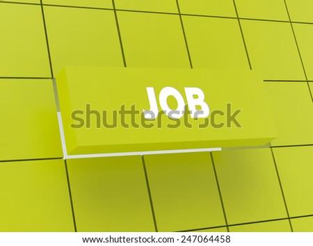 Concept JOB - stock photo