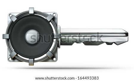concept key isolated on white background High resolution 3d