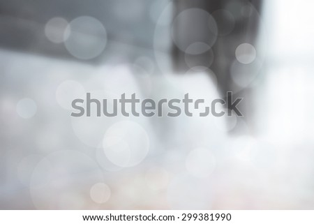concept morning in bedroom with flare light and bokeh. - stock photo
