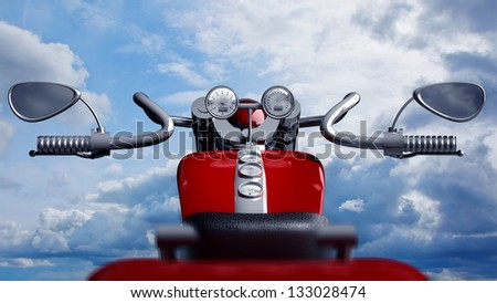 concept motorcycle (No trademark. it is design and the 3d model completely exclusive. my development) High resolution 3D - stock photo