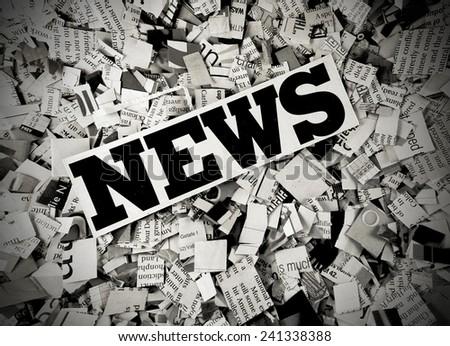 concept news  - stock photo