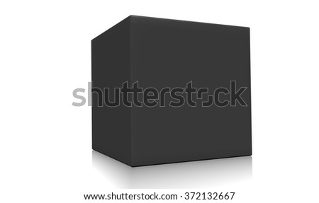 Concept of a black box isolated on a white background.