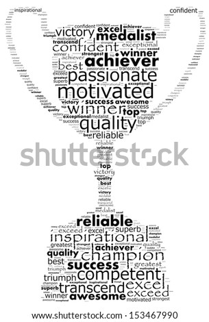 Concept of a champion - stock photo